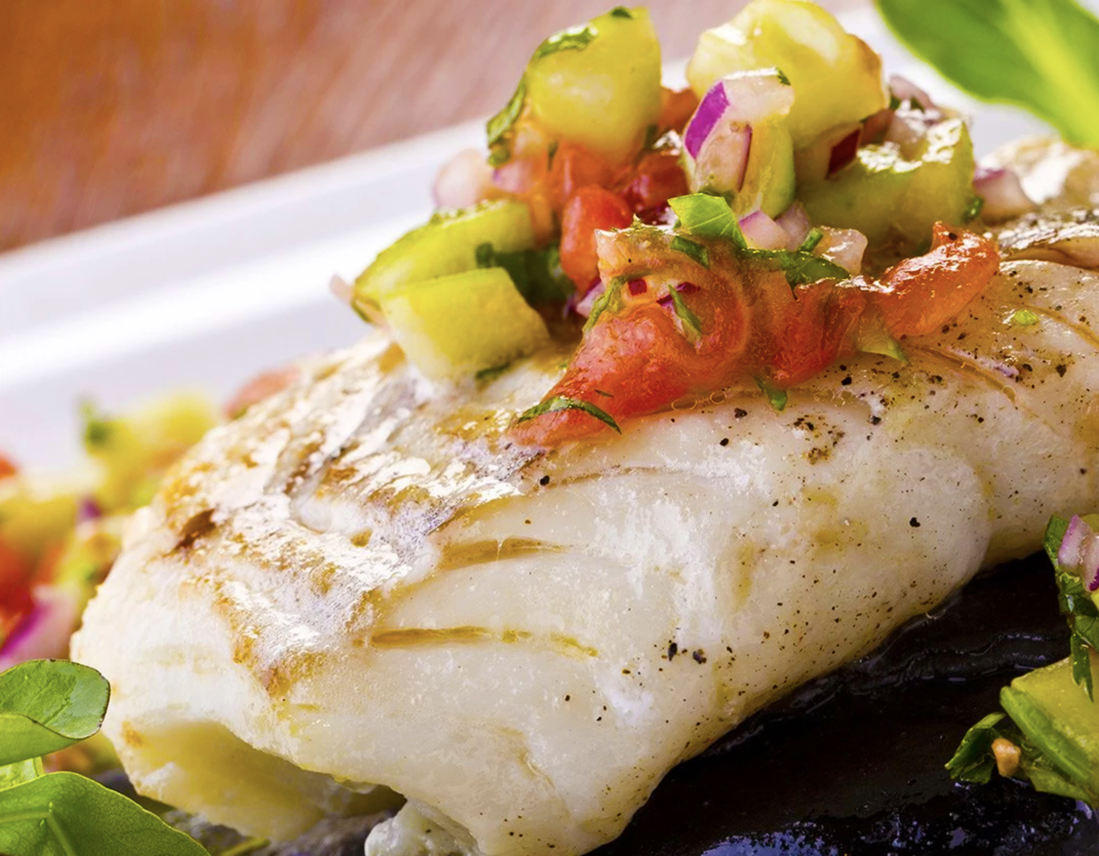 Baked Cod with Avocado Salsa
