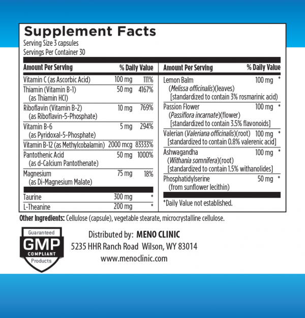 Calm Supplement Facts