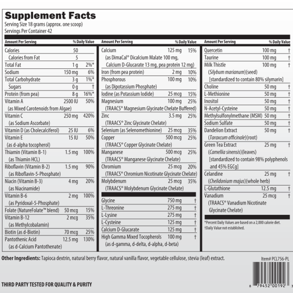 Cleanse Supplement Facts