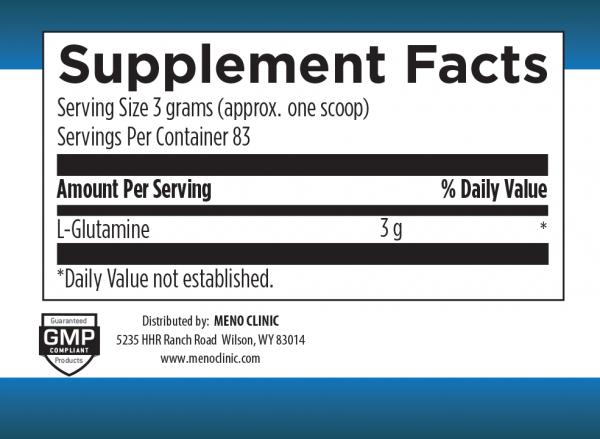 Glutamine 8oz Supplement Facts