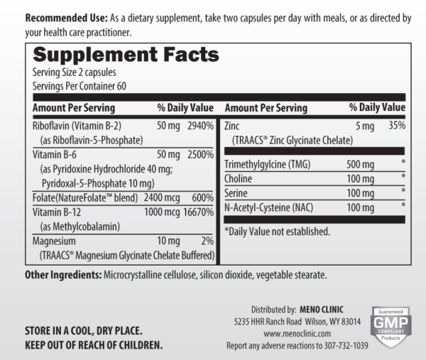 Homocysteine Support Label