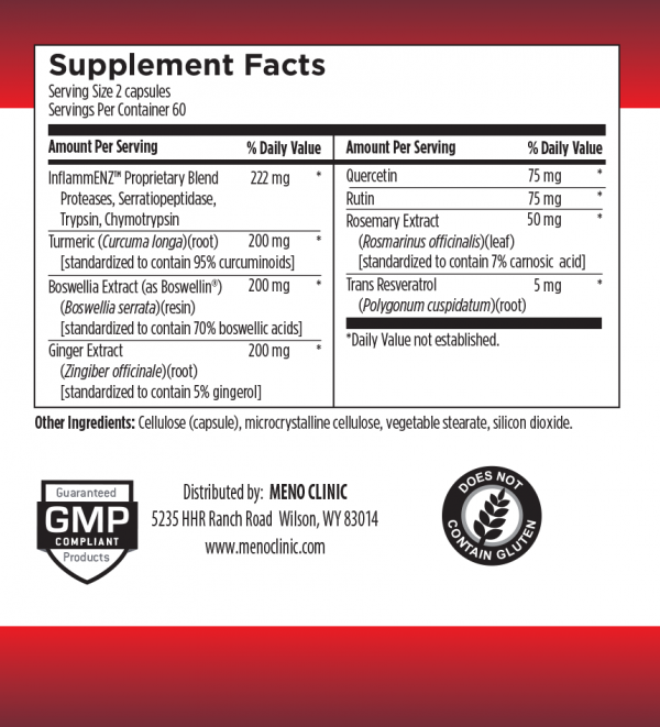 Infla-Tamer Supplement Facts