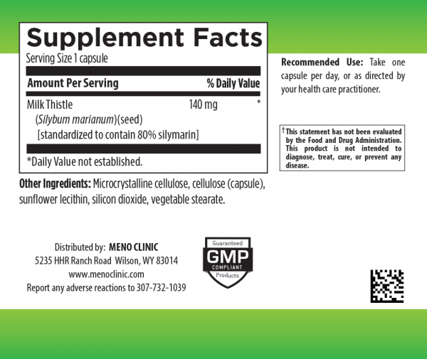 Liver Support Supplement Facts