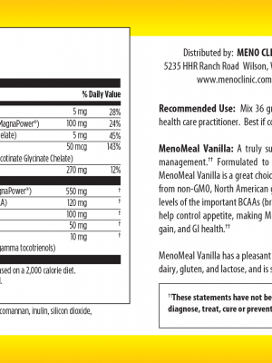 MenoMeal Vanilla