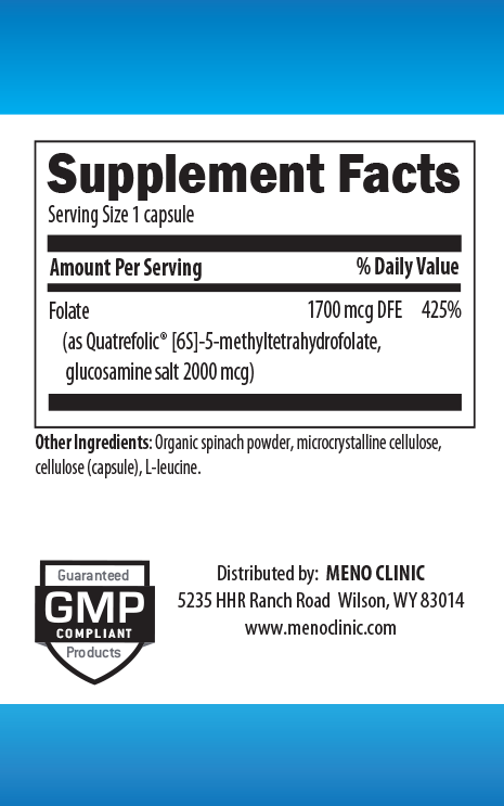 Methyl Folate 1mg Supplement Facts