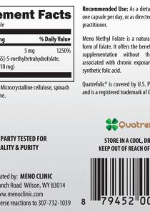 Methyl Folate 5mg