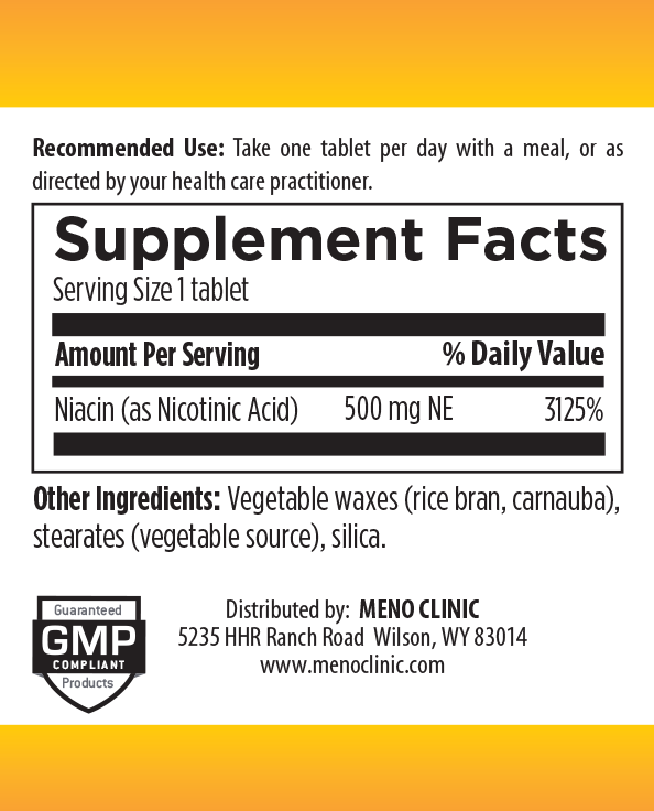 Niacin Supplement Facts