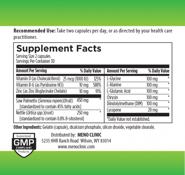 Saw Palmetto Supplement Facts