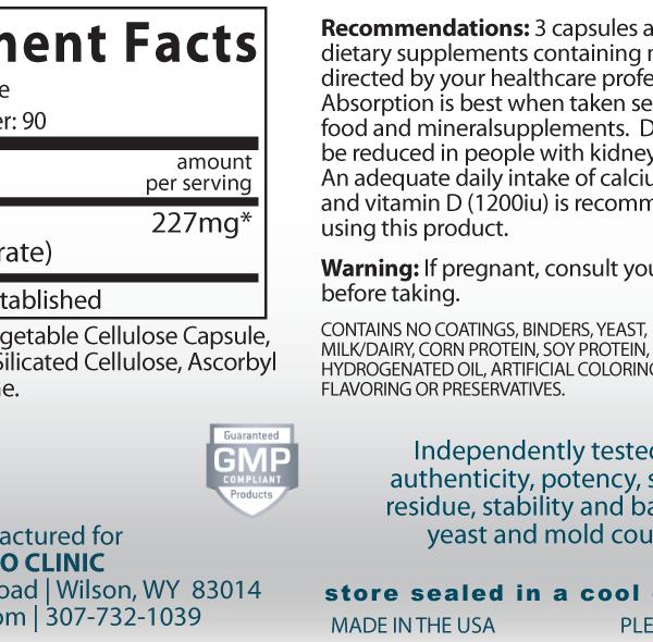 Strontium Supplement Facts