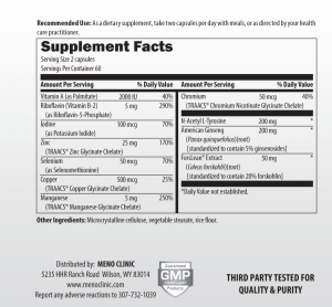 Thyroid Support Supplement Facts