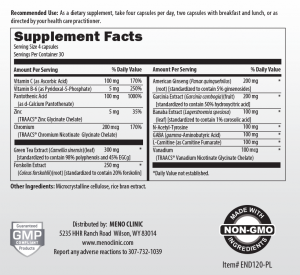 Trim Supplement Facts
