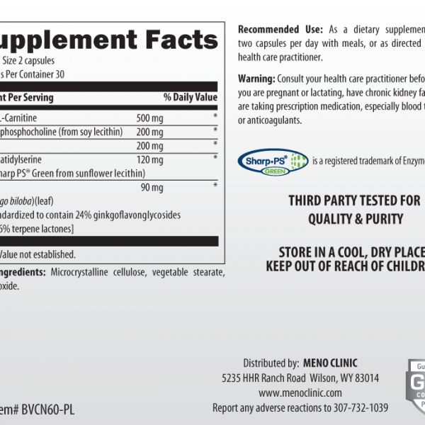 Vital Brain Supplement Facts