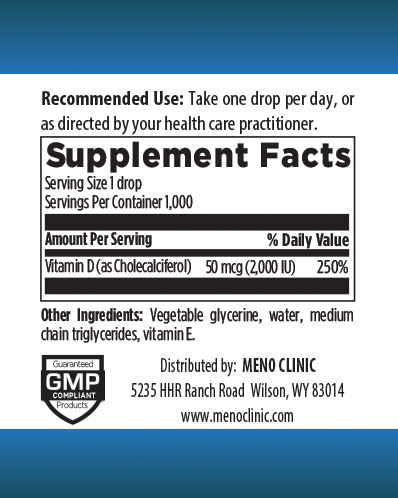 Liquid D3 Supplement Facts