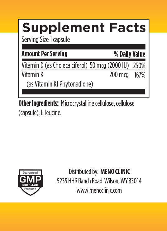 Vitamin D3 2000 Supplement Facts
