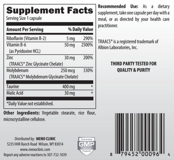 Zinc Supplement Facts