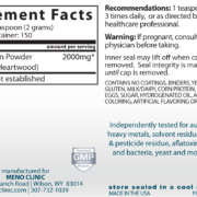 Arabinogalactan Supplement Facts