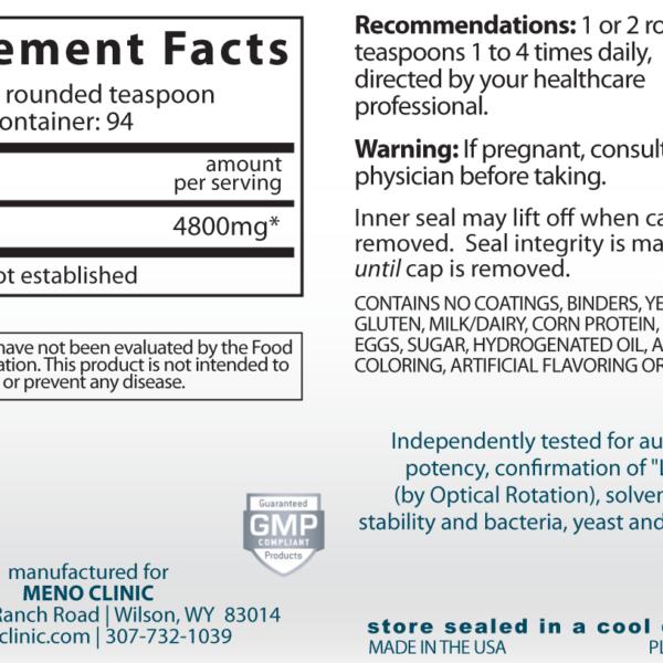 Glutamine16oz Supplement Facts