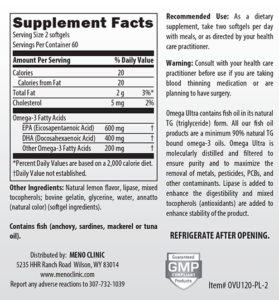 Omega Ultra Supplement Facts