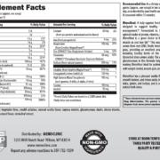 MenoMeal Vanilla DF Supplement Facts