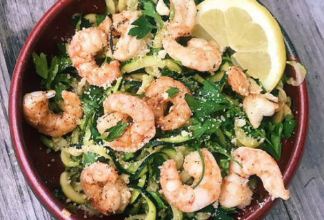 Zoodles & Shrimp