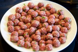 Slow Cook Moroccan Bison Meatballs