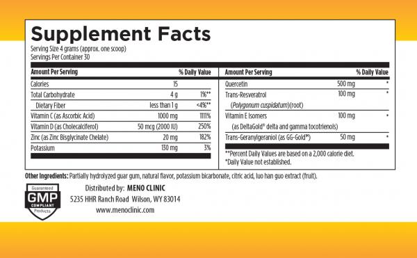 Immune Fizz Supplement Facts